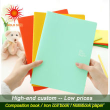 made in china a5 paper cover stationary students spiral bound notebook for schools