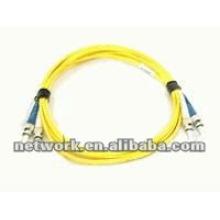 ST-ST Single mode Duplex cable de conexión de fibra óptica 1 metro