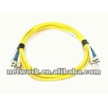 ST-ST Single mode Duplex fiber optic patch cord 1 Meter