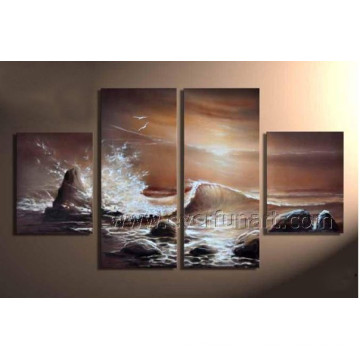 Home Decroation Sea Waves Oil Painting on Canvas (SE-195)