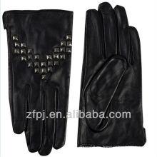 Nuevos guantes especiales del remache del cuero de la manera de la calidad los estilos 100%