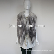 Special design and fashion New products for 2013 genuine /real goat fur vest