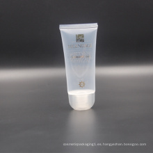 Tubo de empaquetado plástico transparente cosmético transparente de la despedregadora de 65 ml