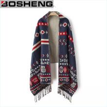 Art- und Weisefrauen-Winter-Wiederherstellung-alte Weisen-Schal-Schals