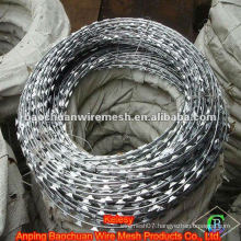 BTO-10 galvanized steel wire rot proof razor barbed wire(Factory)