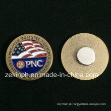 Emblemas feitos sob encomenda do Pin de metal do nome do ímã do metal