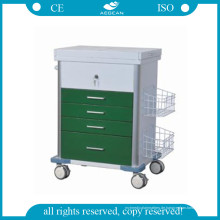 AG-GS008 Krankenhaus Medizinischer Patient Notfallwagen Grüne Farbe