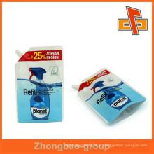 Sacos de líquido de bico de impressão de gravura, sacos de plástico de bico com personalizar