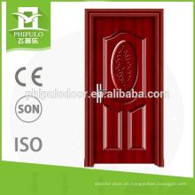 Puertas cortafuego de madera clasificadas contra incendios usadas para la casa en venta caliente