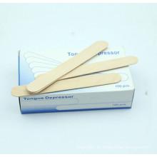 Wegwerfbarer medizinischer steriler Birken-hölzerner Zungen-Depressor