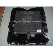 Manta de lana coralina con cinta de nylon y tarjeta A4 (SSB0198)