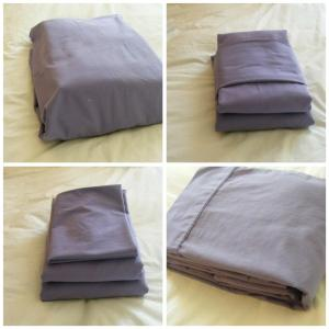 Cotton/linen solid color duvet sets