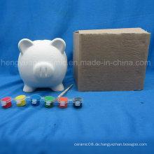 Paint Set Schwein Münze Bank, Kind Malerei DIY Tier Keramik