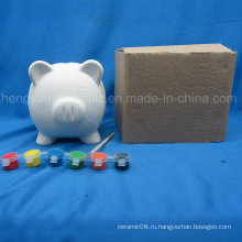 Краска Set Pig Coin Bank, детская живопись DIY Animal Ceramic