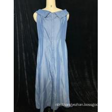 Sleeveless Denim Skirt For Ladies