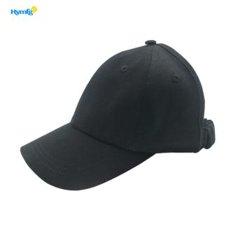 Schwarze Baumwollhut-Baseballmützen