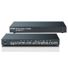 Amplificador de divisor HDMI de 8 portas por Cat5 X 1