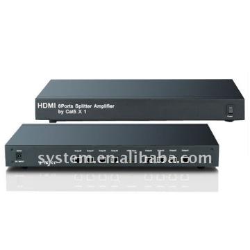 HDMI 8 ports Splitter Amplifier by Cat5 X 1