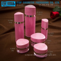 High-end unique and perfect good quality double layers innovative oval bottle and jar acrylic cosmetic packaging