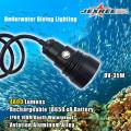 Luz de montagem do mergulhador 4000LM Canister luz de mergulho do diodo emissor de luz