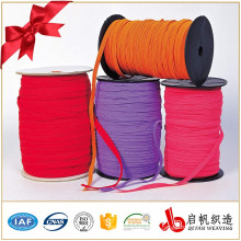 Factory Wholesalers Rubber Rope Flat Drawcord Elastic Woven Cotton Cord for Stitched