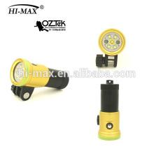Высокая интенсивность 2400lumen дайвинг видео фонарик факел Hi-Max V11