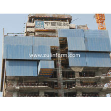 Self Hydraulic Lifting Climbing Wall Protection Panels With Three Floors