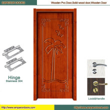 Puerta de madera llana Puerta de madera de cristal de puerta de madera de Foshan