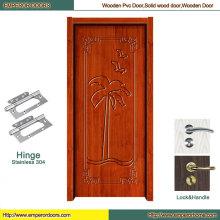 Porte en bois simple Foshan Porte en bois en verre porte en bois