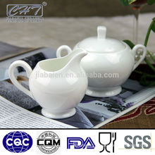 Fine bone china porcelain sugar creamer pot