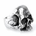 925 стерлингового серебра череп головы кольцо ювелирных изделий