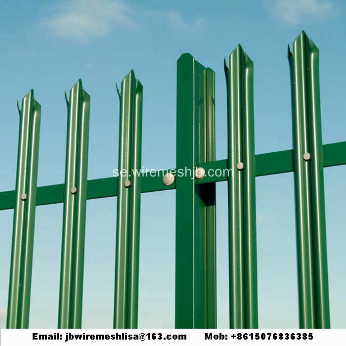 W Shape Powder Coated Palisade Fence Paneler