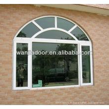 fenêtres en aluminium voûtées de maisons modernes