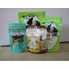 Aufrechter Beutel Kaninchen Plastiknahrungsmittelverpackungsbeutel mit Antibeleg