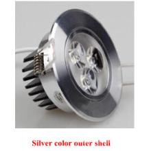 Color plateado exterior Shell Epistar 2835SMD LED abajo luz