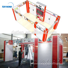 Detian Offer 10x20ft Custom exhibition expo booth display stand with slatwall