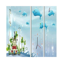 High quality customized made privacy protection glass digital printing art tempered glass for partition
