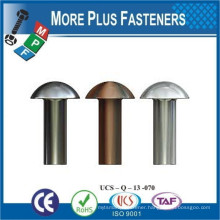 Made in Taiwan Aluminum Copper Solid Steel Plain Round Head Rivet