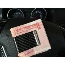 Clip d'argent glacé en fibre de carbone pour cadeau