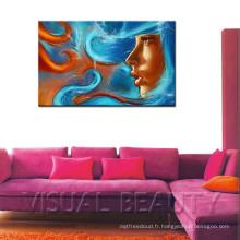 Abstract Girl Face HD Impression d'images numériques Photo Canvas