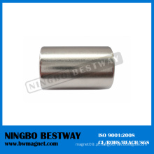 N42 D20x45mm Cilindro ímã de neodímio com revestimento de Ni