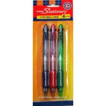 (JML) Prix bon marché avec stylo à bille de bonne qualité Stylo à bille rétractable à 4 couleurs
