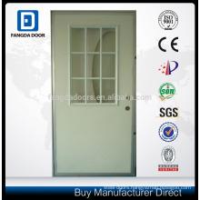 9-Lite Glass Inserts Rebated Door