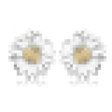 Women′s Fashion 925 Sterling Silver Sunflower-Shaped Earrings Inlay Crystal