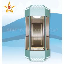 PANORAMIC Elevador de cristal de observación con color azul