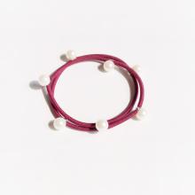 Small Beads Pearl Hair Rope Bracelet Long Hair Girls Hair Ornaments