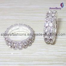 Silber überzogener Diamant-Schmucksache-Ring (XRG12000)