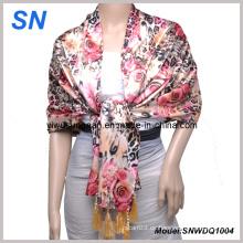 2-14 de la moda de satén de señora Sequare bufanda