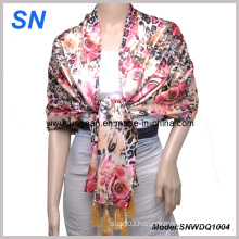 2-14 Fashion Lady′s Satin Sequare Scarf