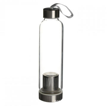 Drinking Glass Water Bottle with Tea Infuser